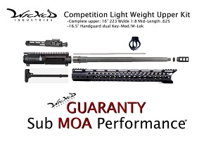 Wicked Industries Upper Build Kit - Competition Light Weight 16""