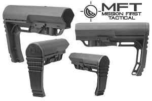 Mission First Tactical Minimalist Stock - Mil-Spec - Black